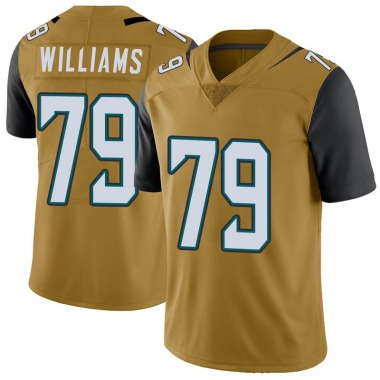 Youth Nike Jacksonville Jaguars Andrew Williams Color Rush Vapor Untouchable Jersey - Gold Limited