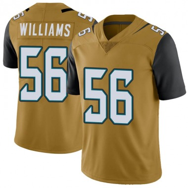 Youth Nike Jacksonville Jaguars Quincy Williams Color Rush Vapor Untouchable Jersey - Gold Limited